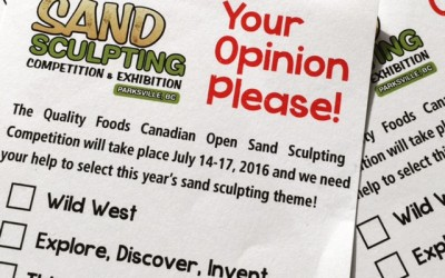 2016 Sand Sculpting Theme – Community Votes Requested!